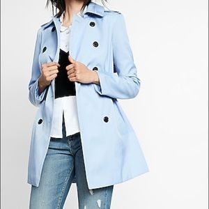 Express Blue Trench Coat